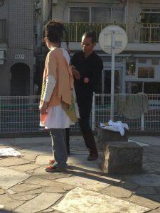 高円寺街中制作パフォーマンス『あなたのいろ わたしのいろ』《第17回『ハート・トゥ・アート』内》(2018年3月24・25日)