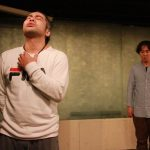 詩人・久世孝臣とダンサー・森 政博による二人芝居『僕とパンツとトンプソン』(2017年11月19日)記録写真